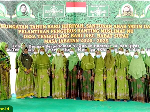 Pelantikan Pengurus Ranting Muslimat NU Tenggulang Baru